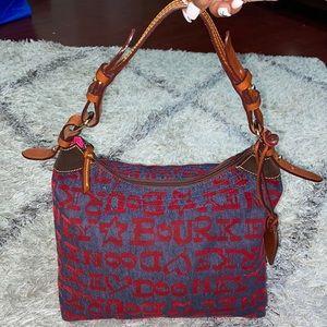 Dooney & Burke denim/red handbag